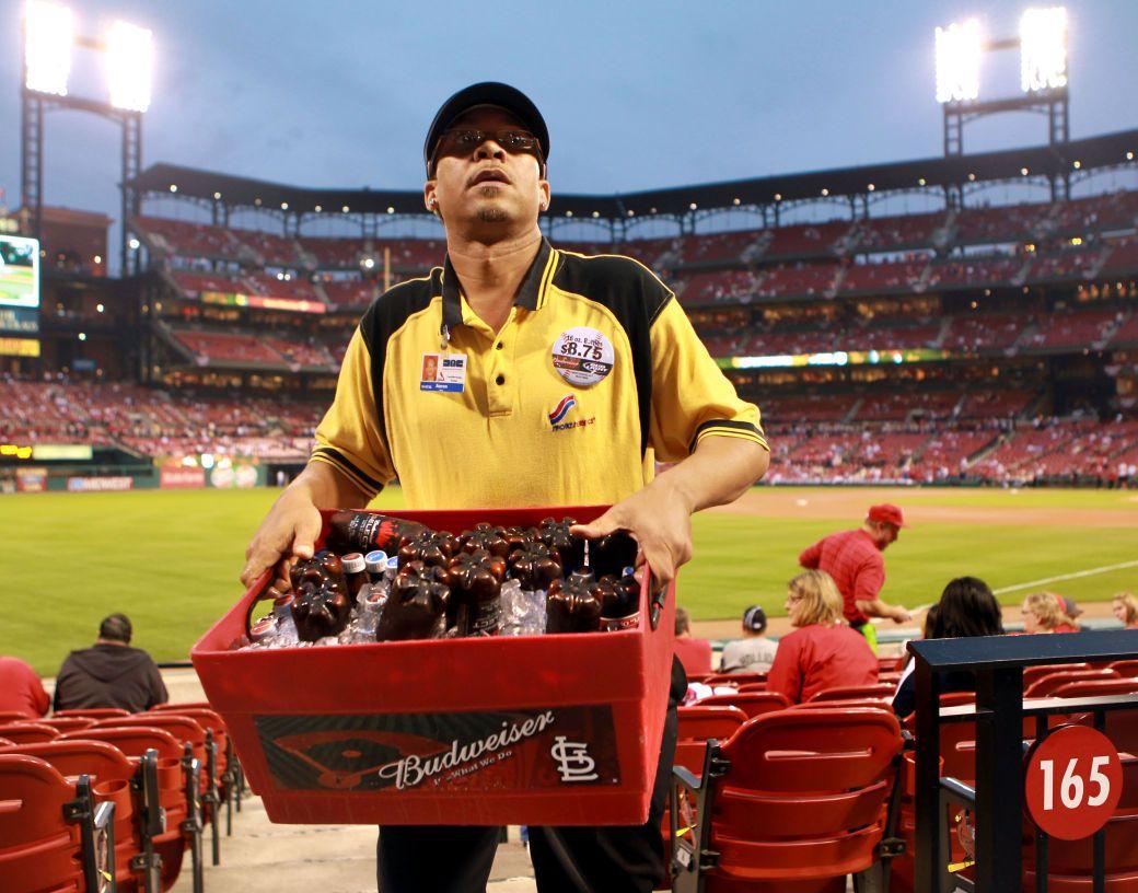 For Beer Vendors Cardinals Playoff Run Means Extra Paydays Baseball Food Cardinals Baseball Park