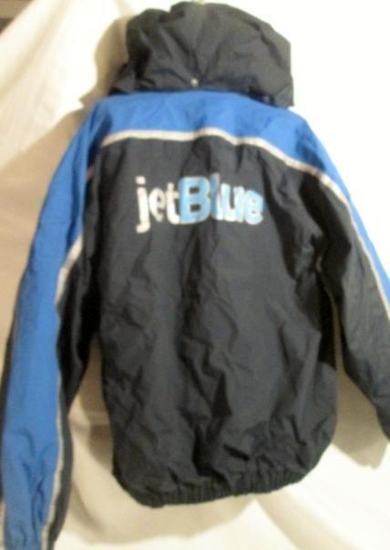 MENS JET BLUE JETBLUE LION APPAREL 2-in-1 FLIGHT Jacket Coat Aviator BLUE Lined XL
