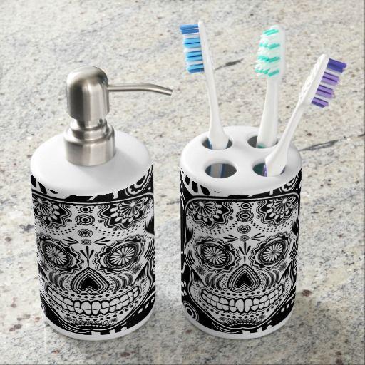 sugar skull bath set