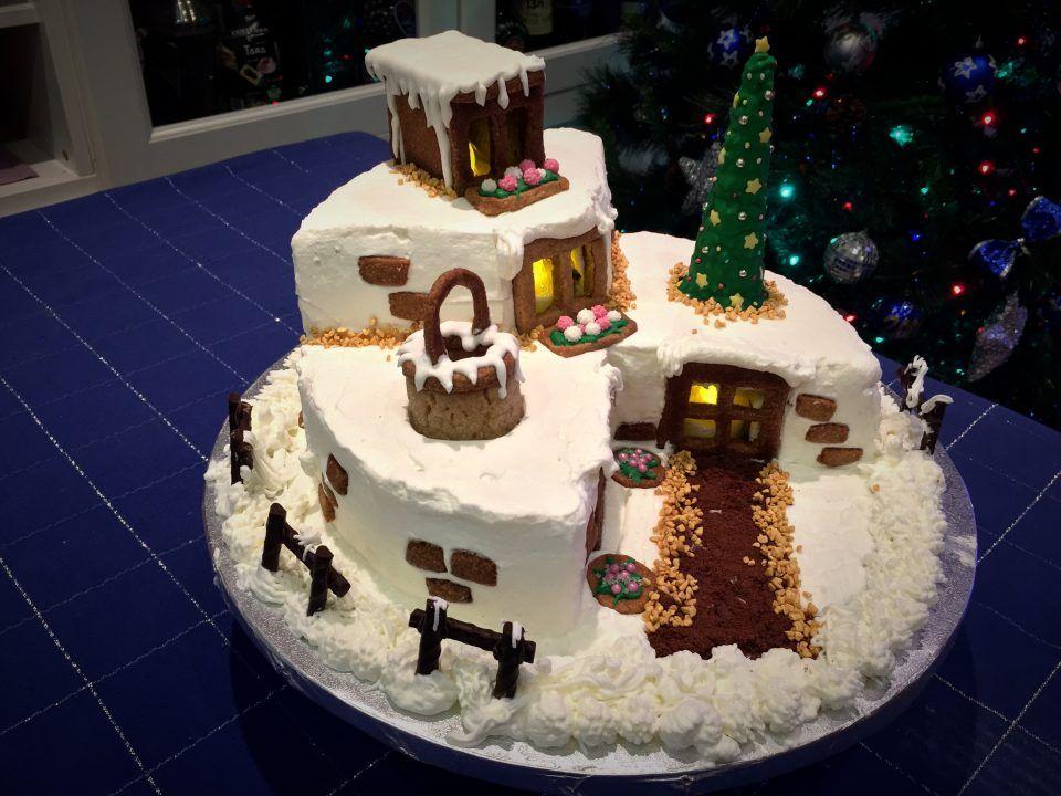 Dolci Natalizi Coreografici.Torta Rifugio Di Natale Pasticci Di Bollicine Ricette Di Dolci Natalizi Dolci Natalizi Torte