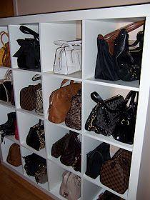 love this handbag storage idea think ill just go buy the cube - Der Ankleideraum Perfekte Organisation Jedes Haus