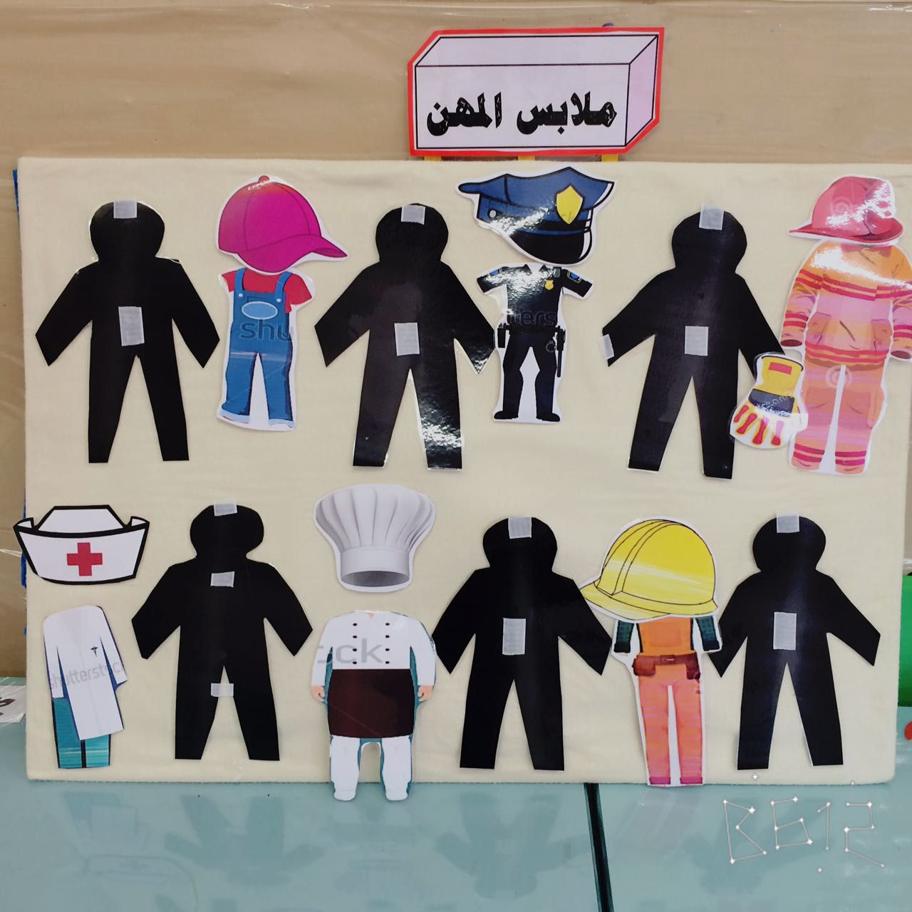 حلقة ملابس المهن Diy Educational Toys For Toddlers Arabic Alphabet For Kids Educational Toys For Toddlers