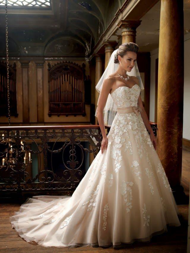Magníficos vestidos de novia colección David Tutera 2014 | Wedding ...