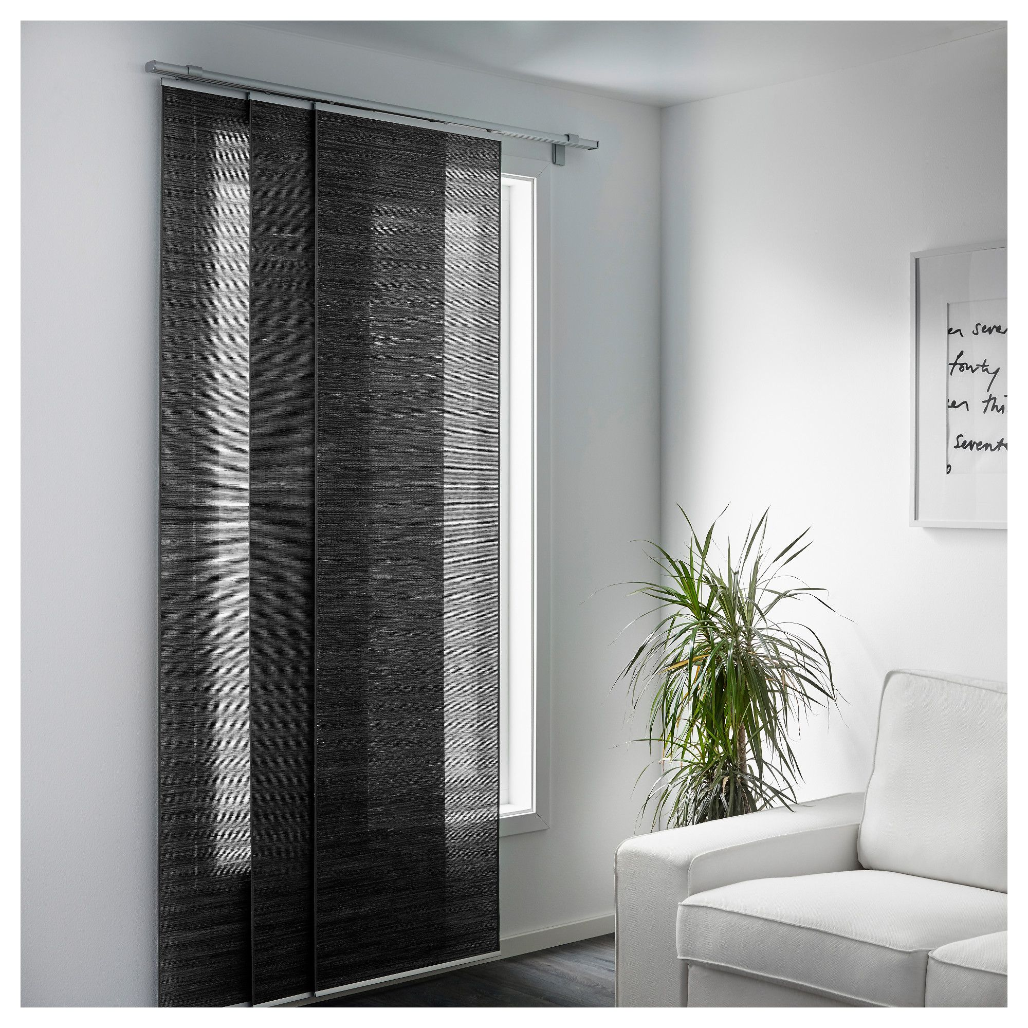 fÖnsterviva panel curtain, dark gray | products | pinterest