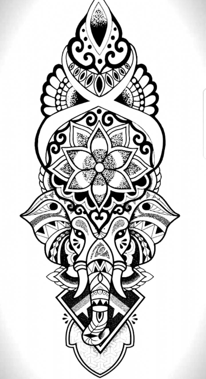 Elefante Ganesh Ideas Mandala Mandalas Tatuaje Elefante Elefante Ganesh Mandala 48 Cooltattoo In 2020 Mandala Elephant Tattoo Elephant Tattoos Mandala Elephant