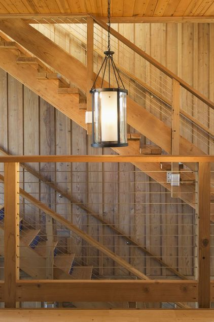 Stairwell - light | Staircase contemporary, Rustic houses ...