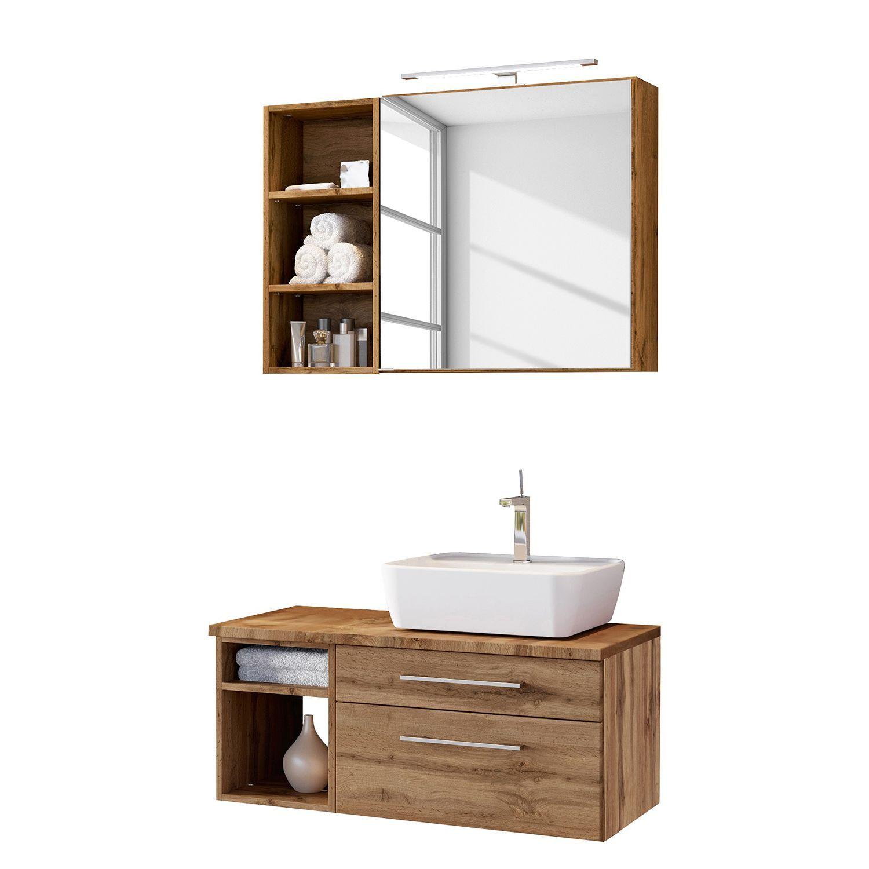 Badezimmerset Davos I 3 Teilig Waschtisch Set Badmobel Set