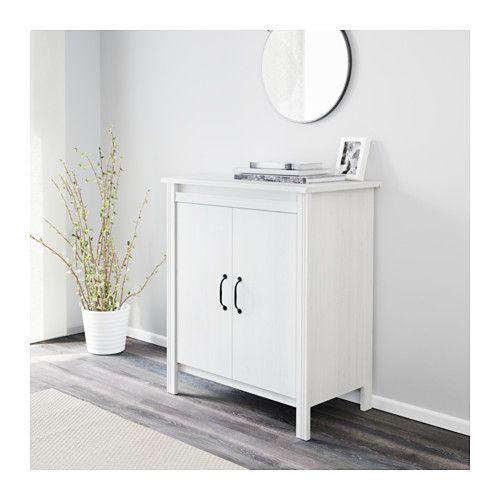 Ikea schrank brusali  BRUSALI Cabinet with doors, white | Doors, Storage and Built ins