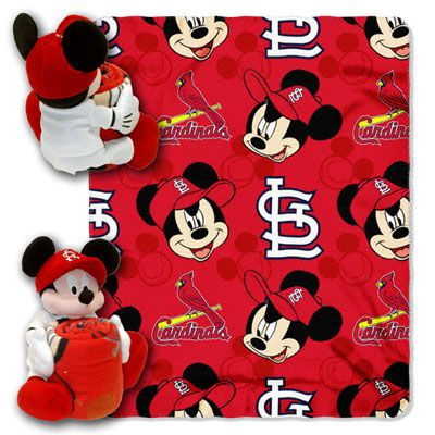 St Louis Cardinals Disney Mickey Mouse Plush Blanket Set Sports Enchanting St Louis Cardinals Throw Blanket