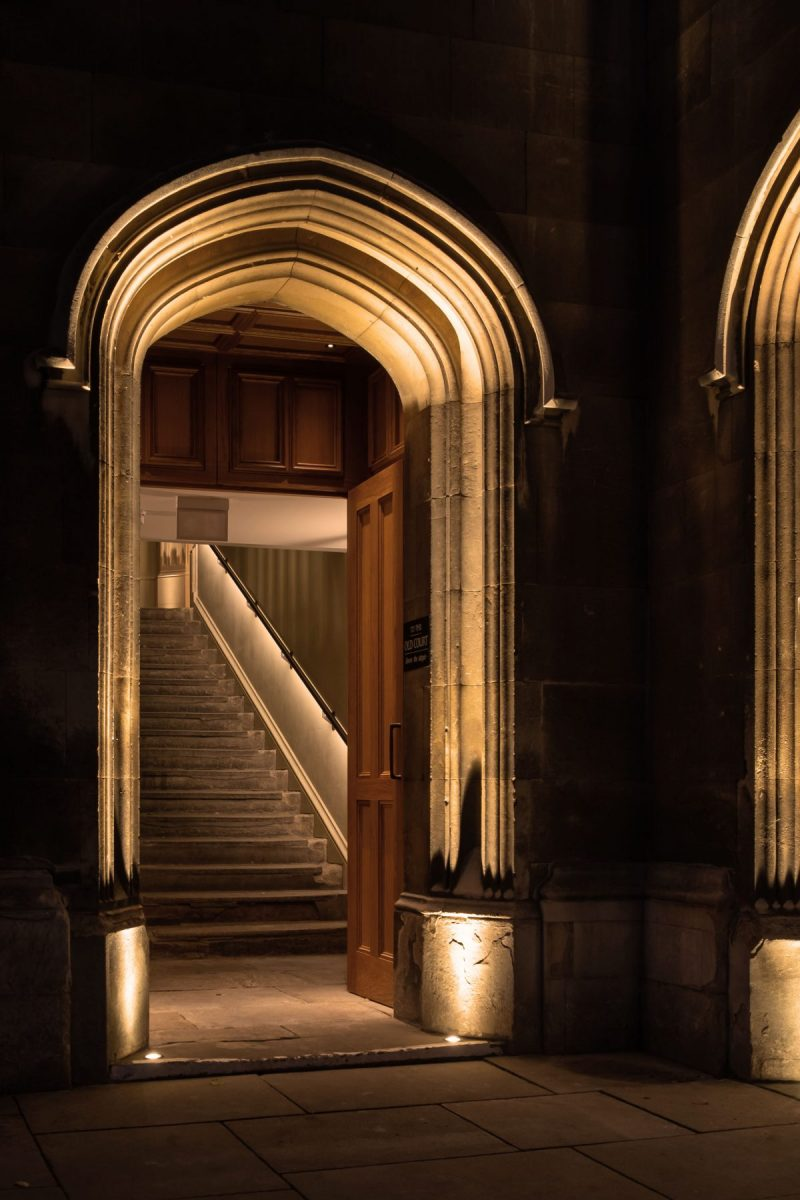 Corpus Christi College, Cambridge - Old Hall, Wilkins Stair & Parker Room - dpa lighting consultants -