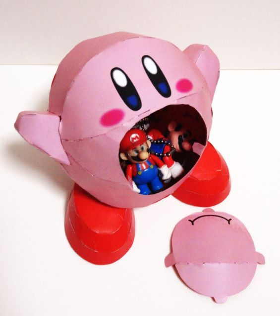 Both Boys Like Kirby But I Think This Would Be Better For Chris Nick Would Probably Be Too Rough And Tear It Paper Crafts Paper Case Boys Valentines Boxes