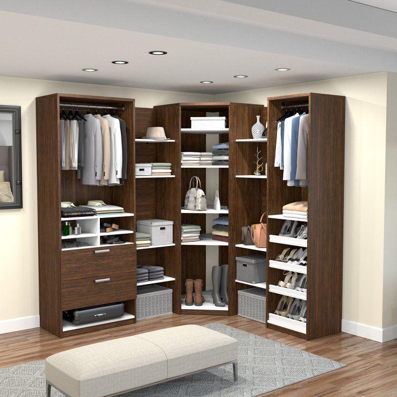 Cielo By Bestar Elite Corner Walk In Closet 80859 30 Closet System Walk In Closet Closet Planning