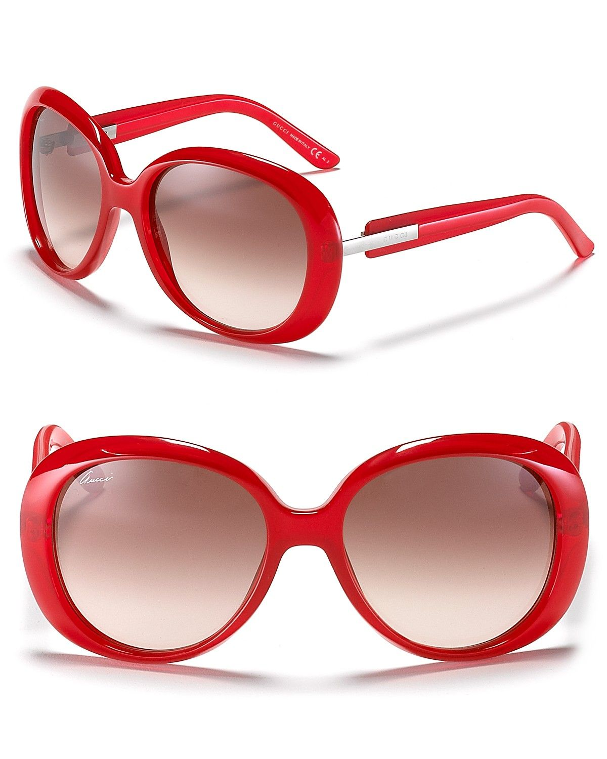 19aa61b73095 GUCCI Red Rounded Oversized Sunglasses ✺ꂢႷ ძꏁƧ➃Ḋã̰Ⴤʂ✺