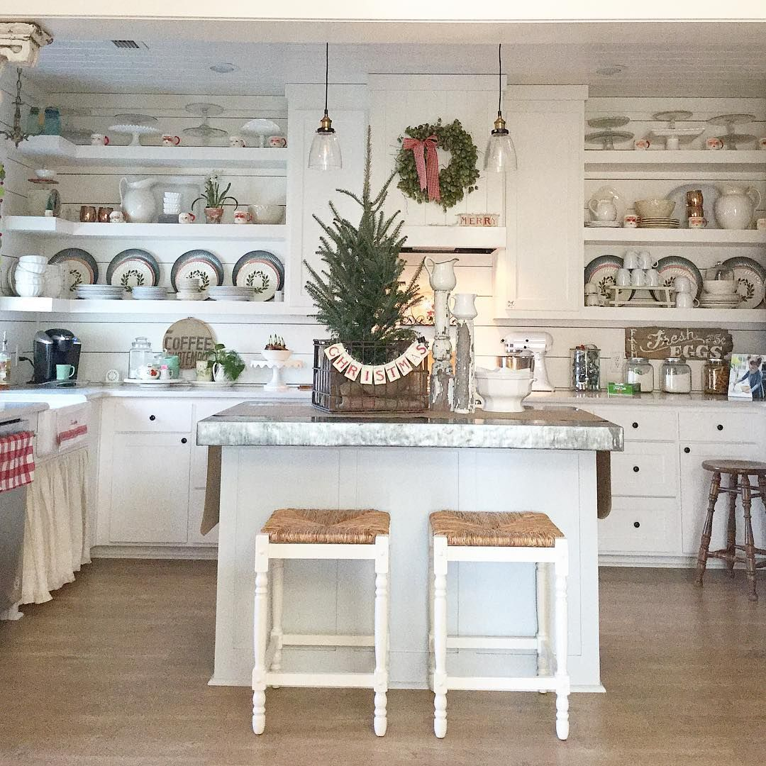 cherry hill cottage farmhouse on instagram our christmas kitchen is decorated finally on farmhouse kitchen xmas id=77567