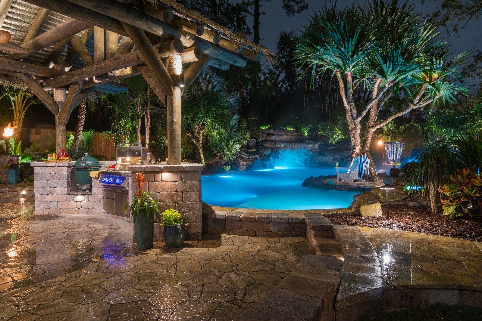 Insane Pools Pina Pool Ada Jacksonville Custom Pool By Lucas Lagoons And Pratt Guys Luxury Swimming Pools Insane Pools Swimming Pool Designs