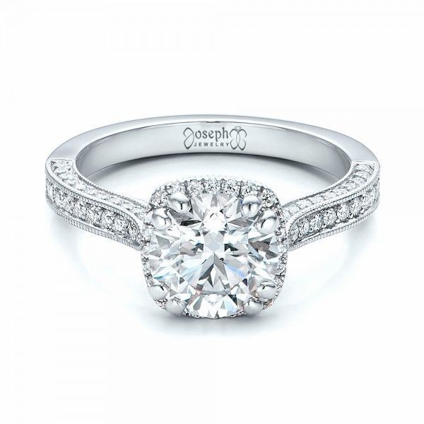 Custom Diamond Halo Engagement Ring Joseph Jewelry Bellevue