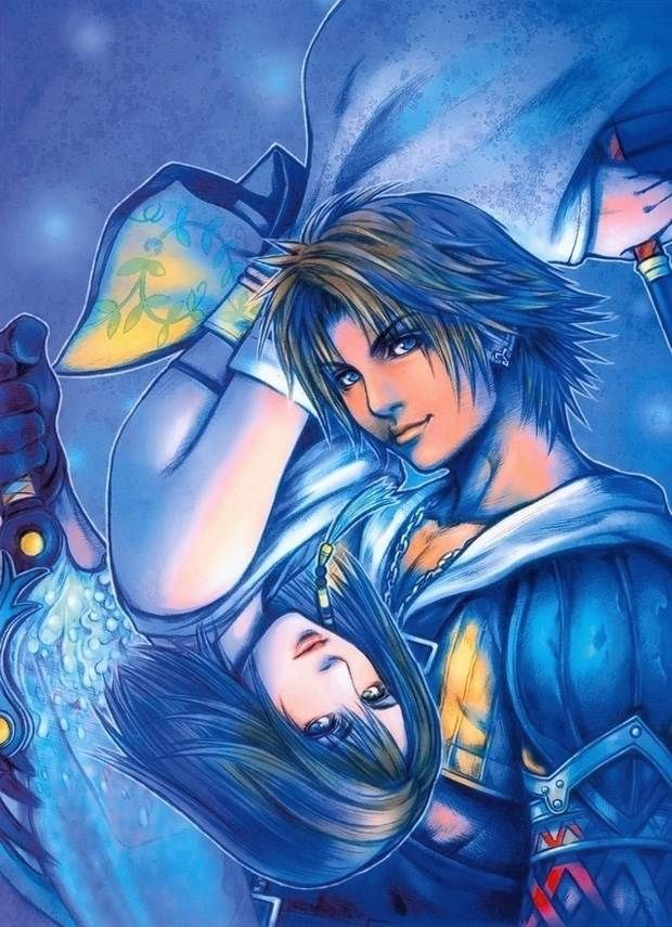 Tidus and Yuna Final Fantasy Video Games Background Wallpapers