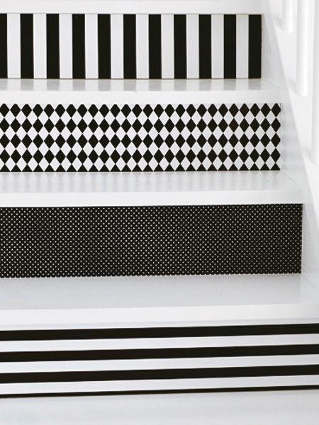 neuer look f r ihre treppe leuchtende farben stufen und auftritt. Black Bedroom Furniture Sets. Home Design Ideas