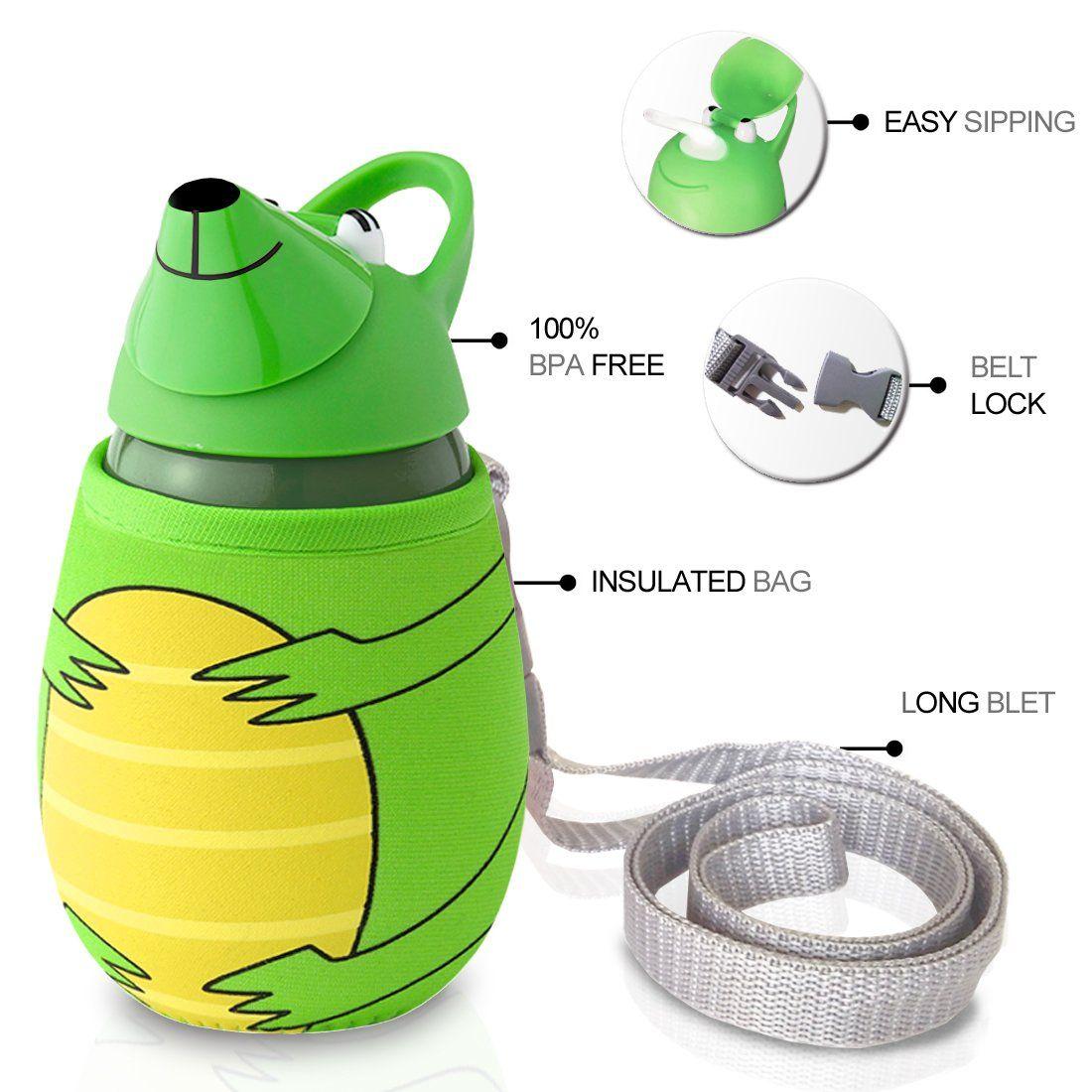 350ml Animal Shape Straw water bottle with Heat Proof