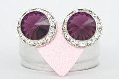 Jojo Loves You Dark Purple Bling Earrings