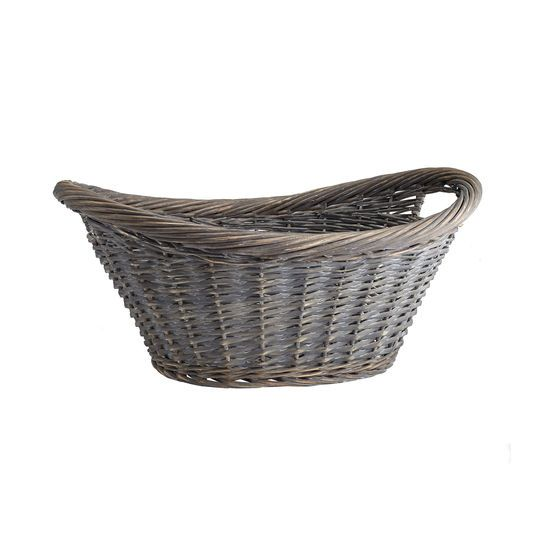 Gray Wash Laundry Basket By Ashland Grey Wash Basket Wicker
