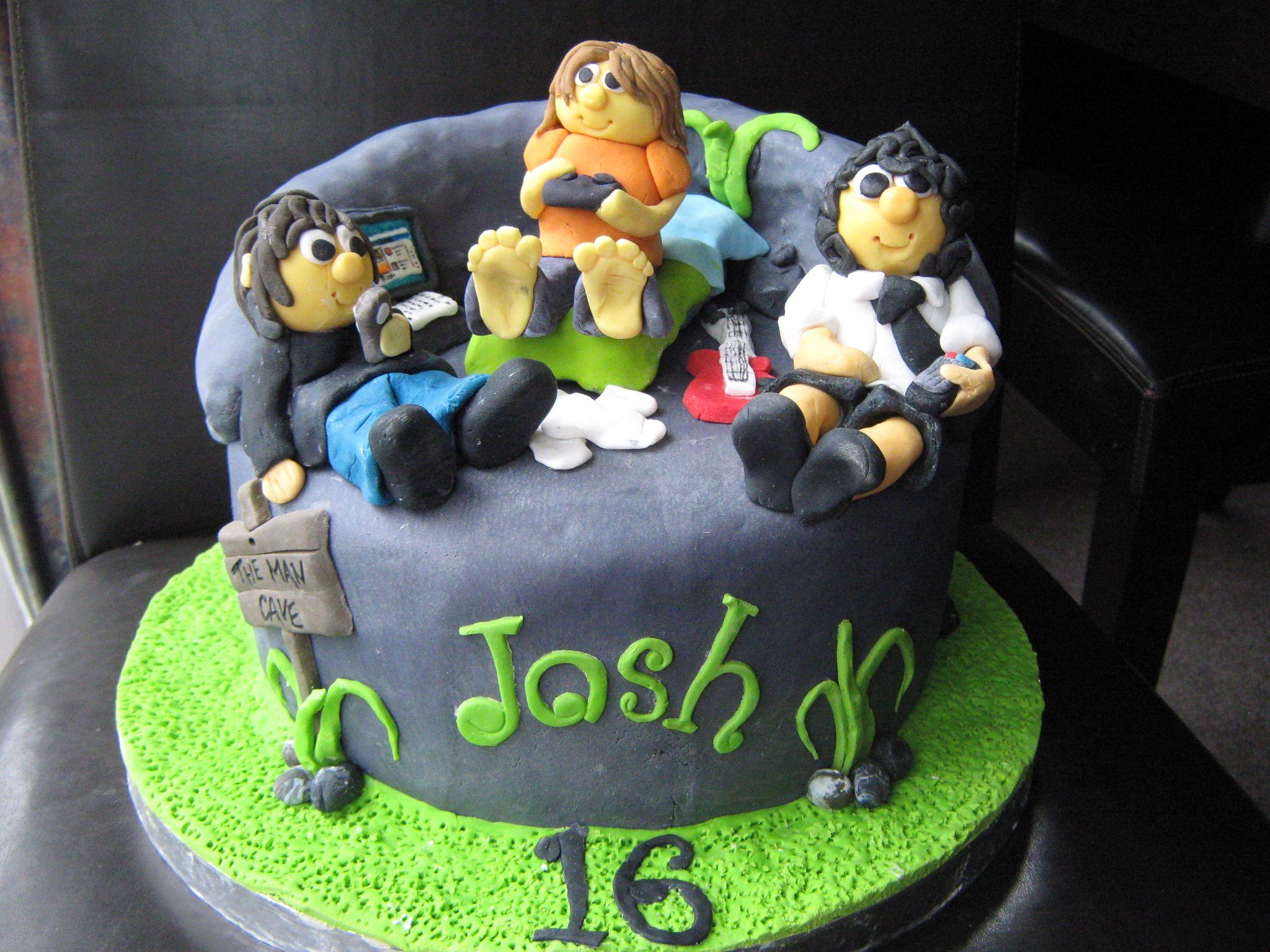 16th Birthday Cakes For Boys 16th Birthday Man Cave Cake