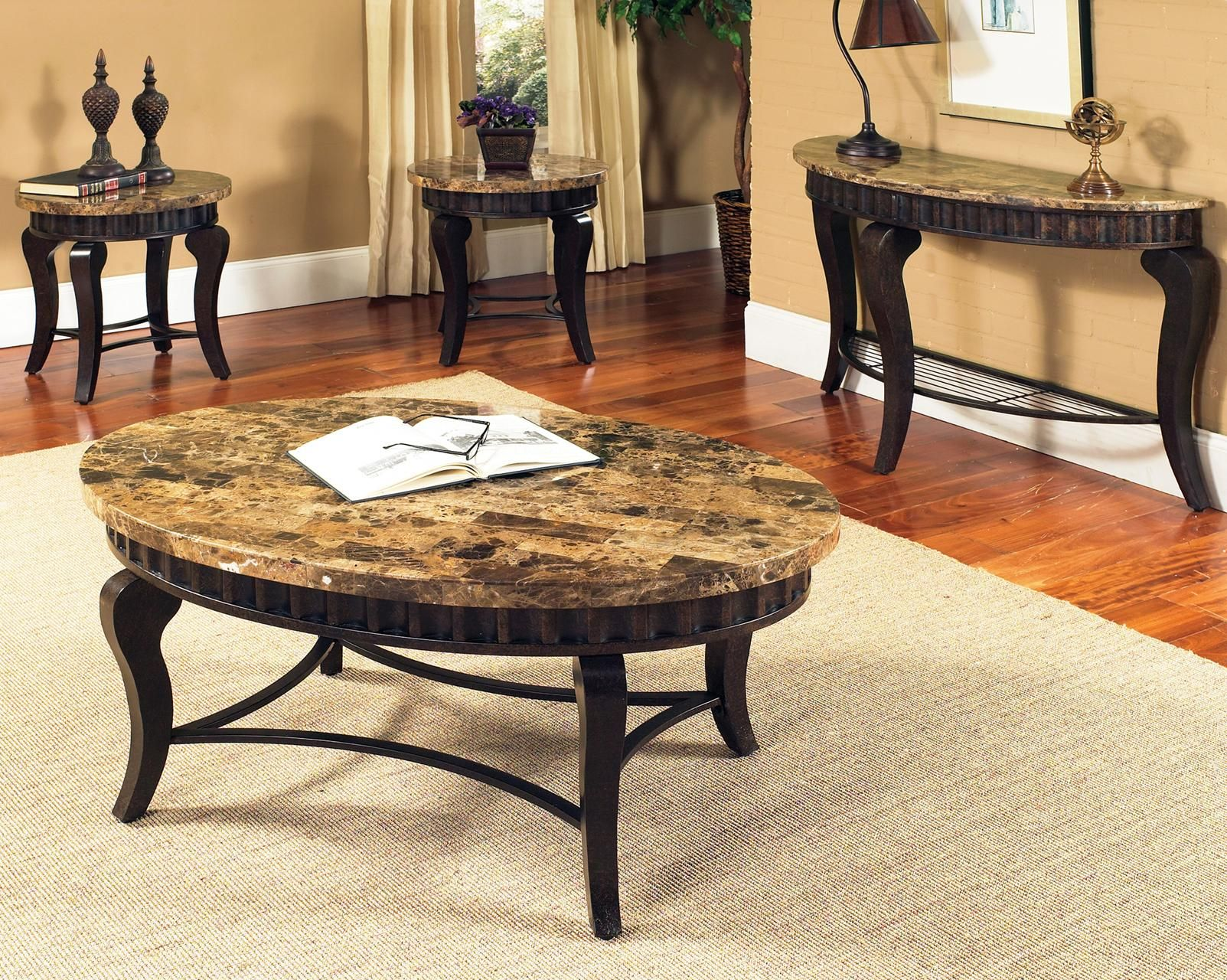 Decorating Coffee Table Coffee Table And Side Table Set 3 Piece Coffee Table Set [ 1280 x 1603 Pixel ]