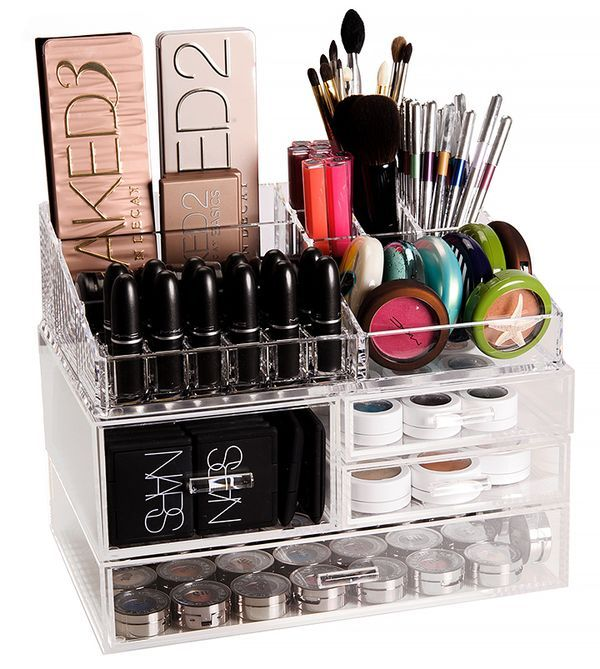 container store makeup storage