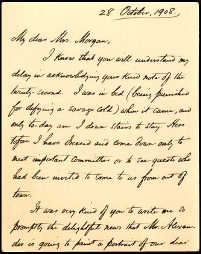 Page  Letter Of Appreciation From President Woodrow Wilson To