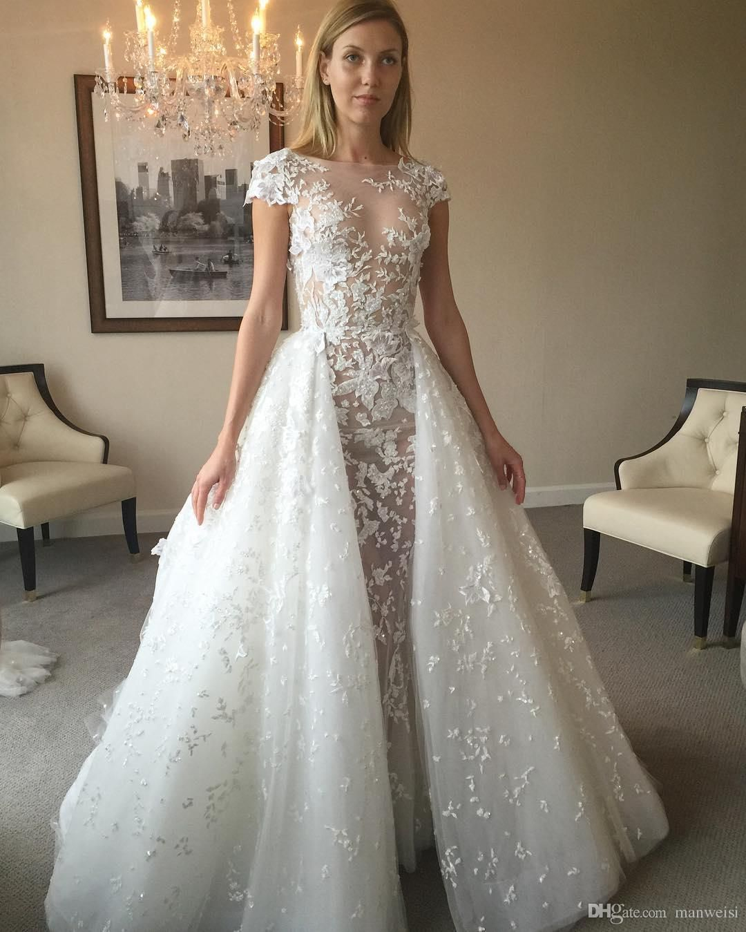 2017 Zuhair Murad Backless Mermaid Wedding Dresses With Detachable Train Lace Br Wedding Dresses Zuhair Murad Backless Mermaid Wedding Dresses Lace Bridal Gown [ 1349 x 1080 Pixel ]