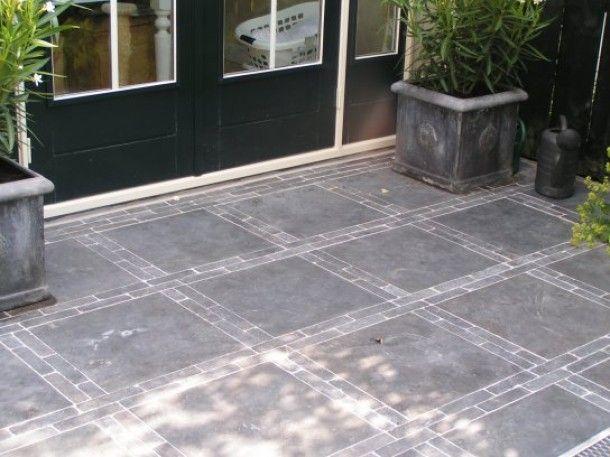 Voorbeelden Terras Bestrating : Leuk patroon voor op het terras door ict garden paving pinterest