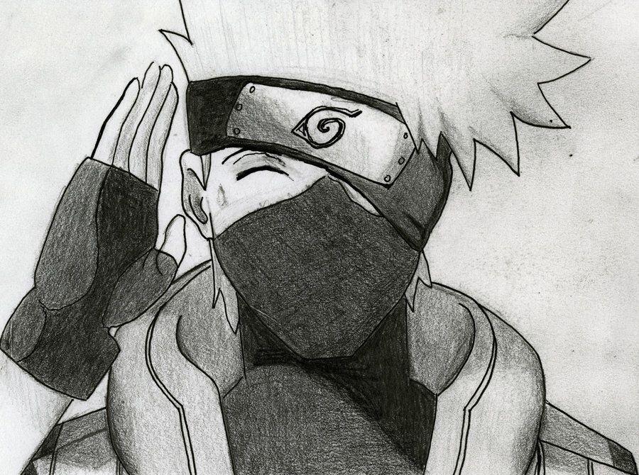 My Kakashi Drawing With Images Kakashi Drawing Naruto Drawings