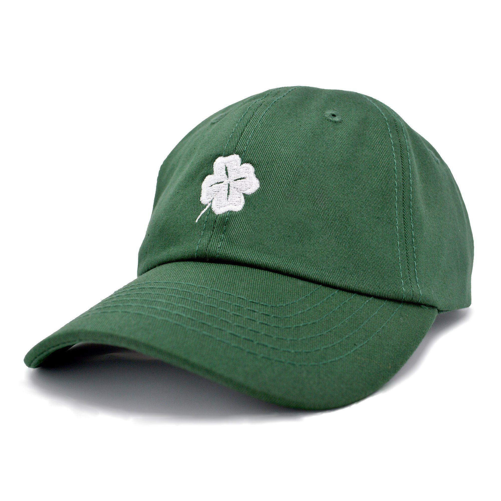 8519a622e63 DALIX Shamrock Hat Unisex Baseball Cap St Patricks Day Cotton Four Leaf  Clover Soft Caps