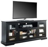"Walker Edison - Highboy TV Stand for Most Flat-Panel TVs Up to 70"" - Black"