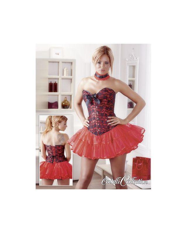 Angebot Corsage rot-schwarz - Größe XL | Rot schwarz ...