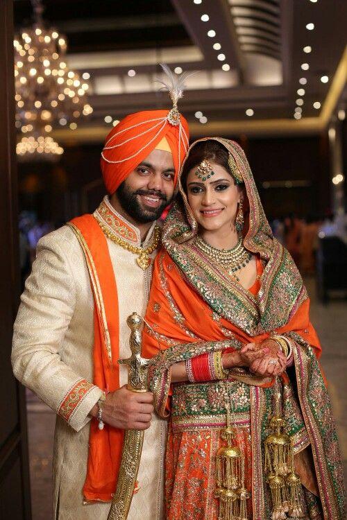Indian Punjabi Wedding Traditional Lehnga Jewelry Choora Kaleere Jatt Indian Wedding Outfits Indian Wedding Dress Indian Wedding Couple
