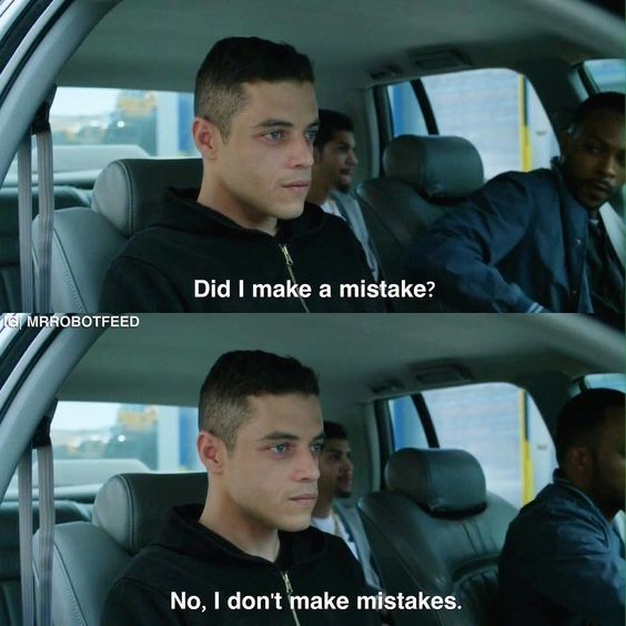 Mr. Robot: Elliot Alderson second guessing himself / Contradictions.  #MrRobot…