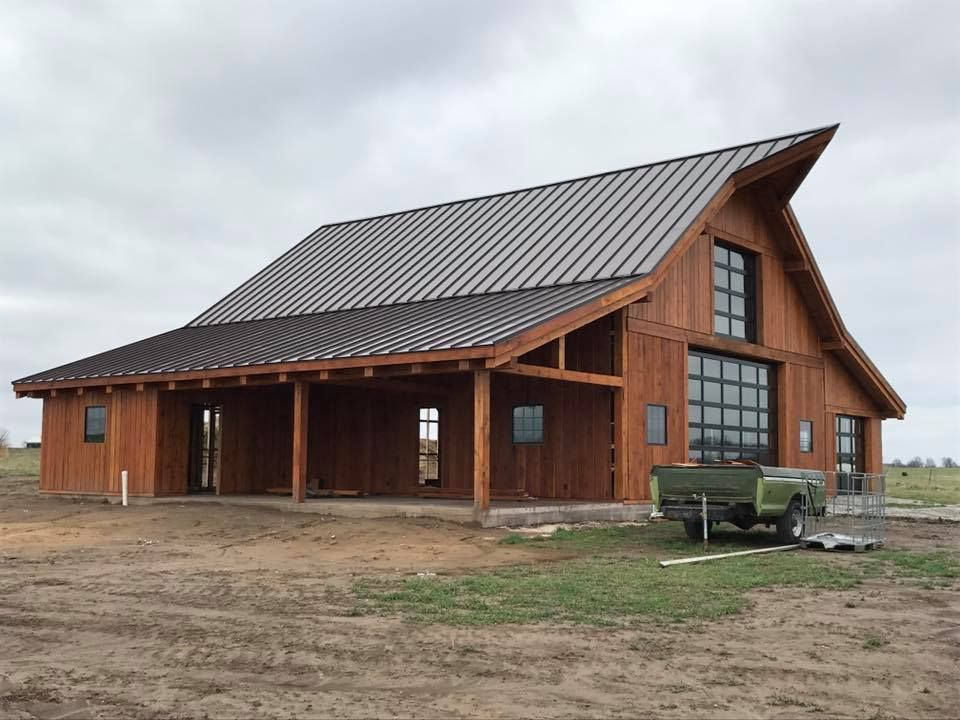 Oak Timber Frame Barn Kit from Schutt Log Homes and Mill Works ...