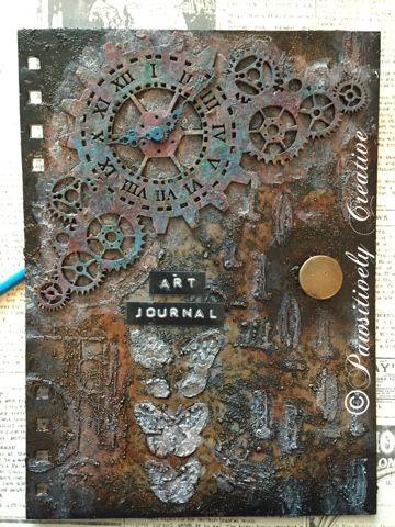 Pawsitively Creative : DecoArt Art Journal #decoartprojects #decoartmedia #mixedmedia