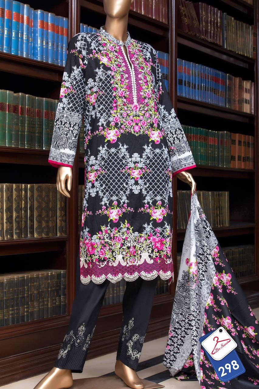 6079fe3529 Bin Saeed Embroidered Stitched Shirt Dupatta 2017 | Cash on Delivery all  over UAE | WhatsApp: +92 335 321 2246