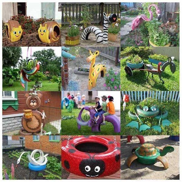Pin von FLY auf Garden Pinterest Reifen, Gärten und Spielecke - alte autoreifen ideen