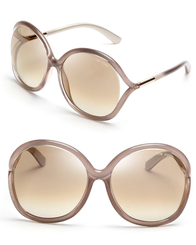 tom ford rhi oversized rose colored sunglasses at. Black Bedroom Furniture Sets. Home Design Ideas