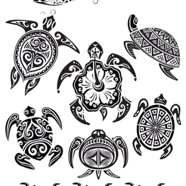 Multiple Hawaiian Turtle Tattoo Designs Hawaiian Tattoo Tribal Turtle Tattoos Turtle Tattoo