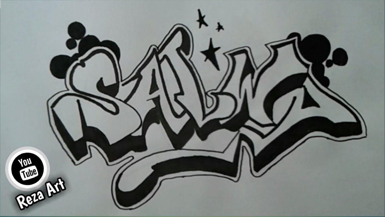 Cara membuat nama grafiti salwa