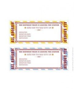 printable train ticket invitations