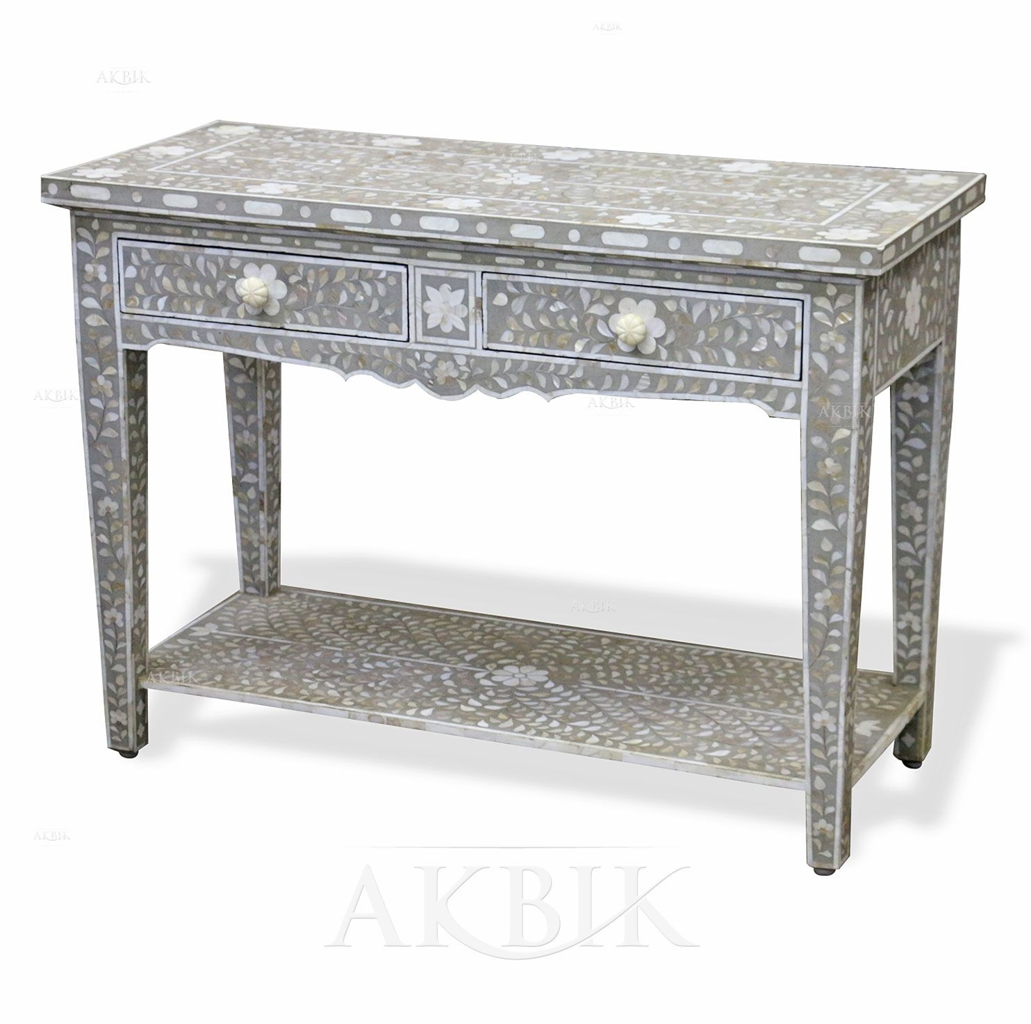 Picture of style no 72641 mother of pearl inlay console table 72641 mother of pearl inlay console table geotapseo Image collections