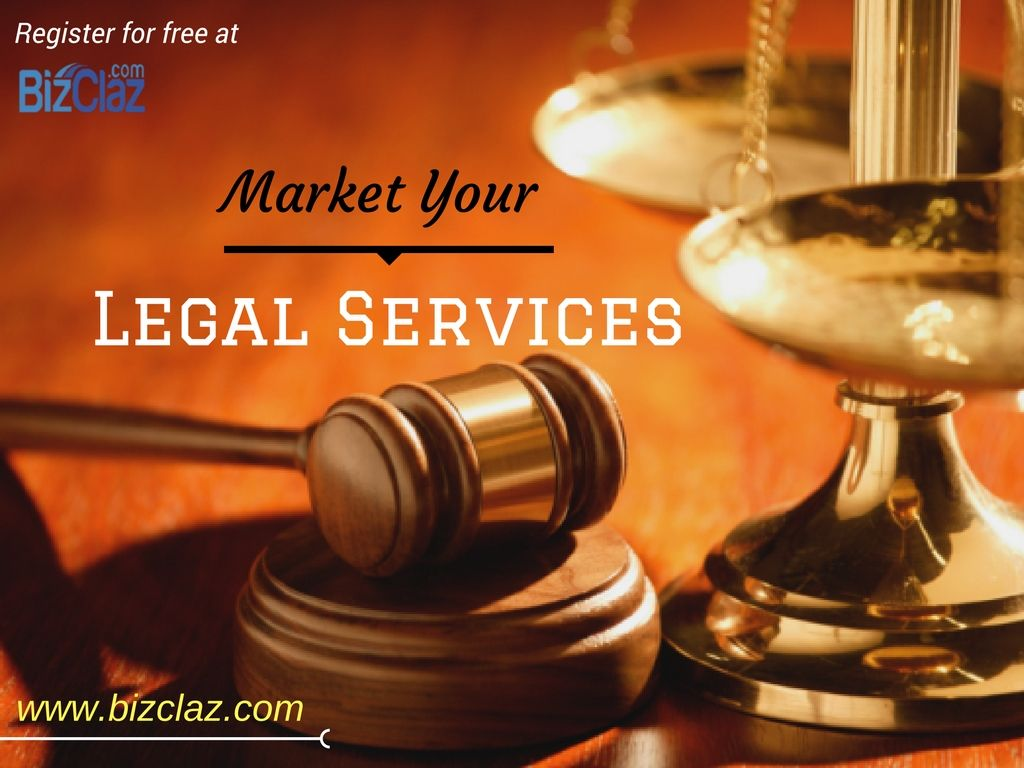 Are you a professional offering legal services?Register for free at Bizclaz.com to market your legal services to a diverse audience of potential clients. #b2badvertising #b2bbusiness #b2bmarketplace http://bizclaz.com/