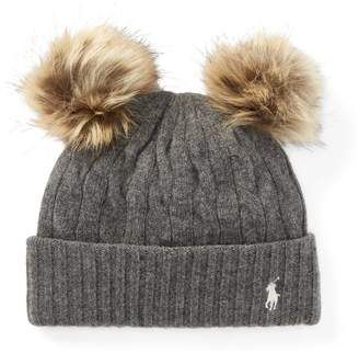 eb38a33191f Ralph Lauren Double-Pom-Pom Wool Hat  hat  womens