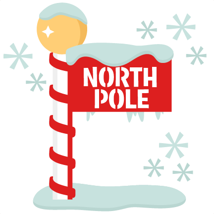 north pole sign scrapbook title winter svg cut file snowflake svg rh pinterest co uk north pole clipart black and white north pole clipart black and white