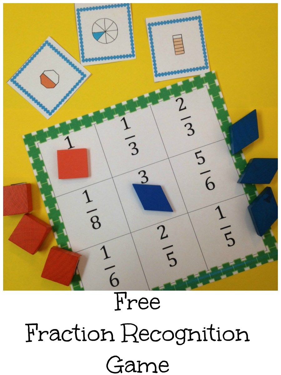 Recognizing Fractions Game